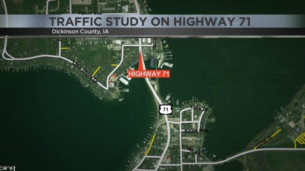 Traffic study underway on U.S. Highway 71